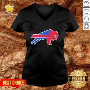 Buffalo Bills Merged Logo Good Buffalo Bills Merged Logo V-neck - Design by Potatotees.com