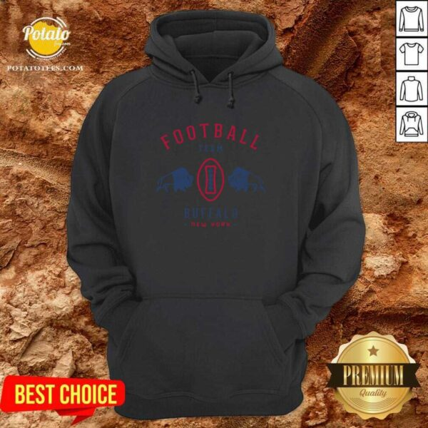 Cool Modern Buffalo Bills Retro Team Crest Hoodie - Design by Potatotees.com