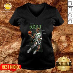 Jordan 11 Bred Inside The Goat V-neck - Design by Potatotees.com