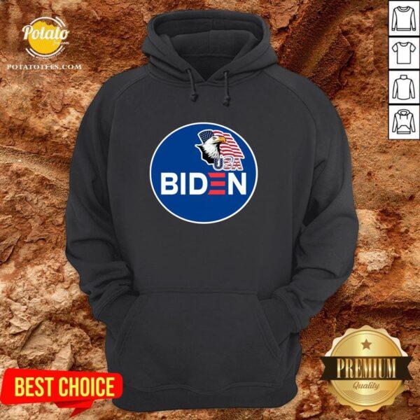 Hot Biden Eagle American Flag USA Election Hoodie - Design By Potatotees.com