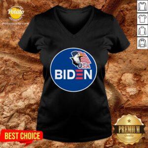 Hot Biden Eagle American Flag USA Election V-neck - Design By Potatotees.com