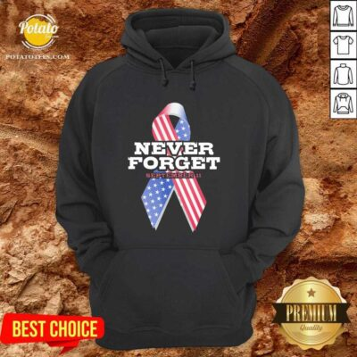 Nice Breast Cancer American Never Forget September 11 Hoodie - Design by potatotees.com