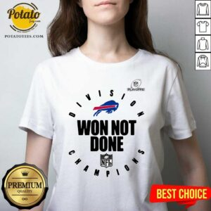 Buffalo Bills Champions 2020 Won Not Done V-neck - Design By Potatotees.com