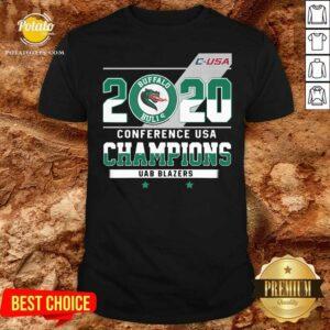 C-USA 2020 Buffalo Bulls Conference USA Champions UAB Blazers Shirt- Design by Potatotees.com