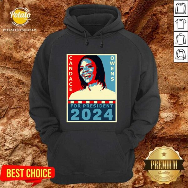 Candace Owens For President 2024 Hoodie - Design by Potatotees.com