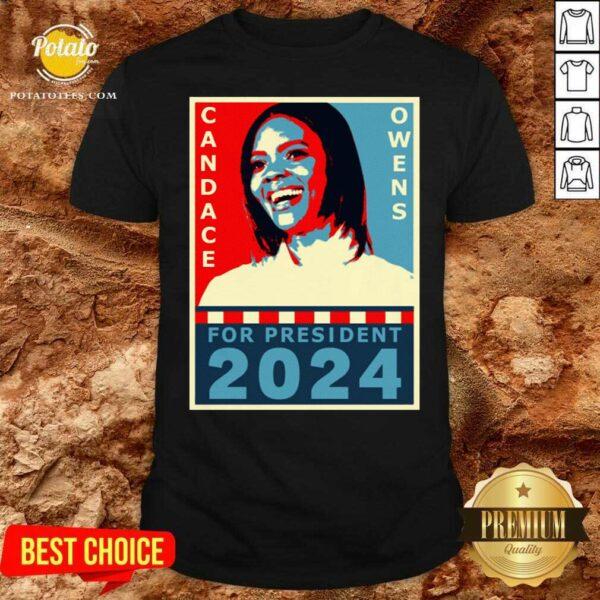 Candace Owens For President 2024 Shirt - Design by Potatotees.com