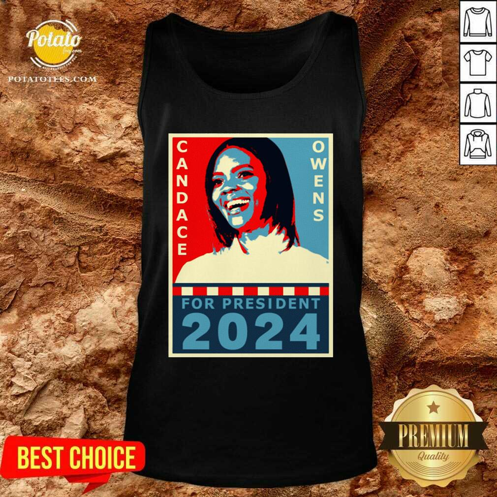 Candace Owens For President 2024 Tank-Top - Design by Potatotees.com