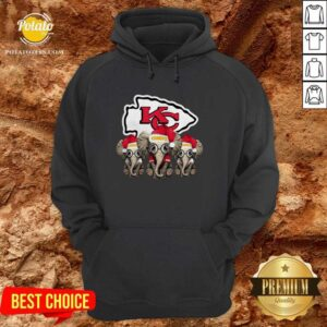 Nice Cute Kansas City Chiefs Elephant Christmas Hoodie - Design by potatotees.com