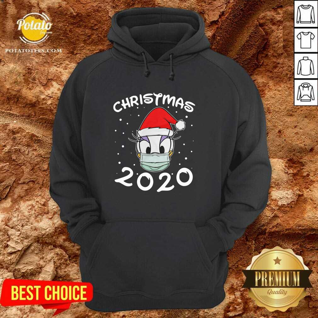 Nice Face Daisy Santa Wear Mask Merry Christmas 2020 Christmas Hoodie- Design By Potatotees.com