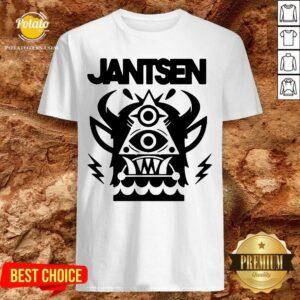 Nice Jantsen Merch Monster Shirt - Design by Potatotees.com