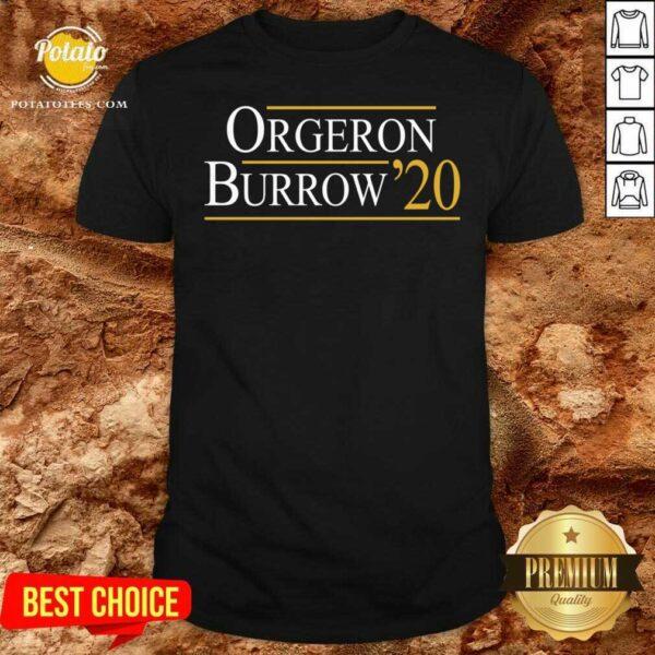 Orgeron Burrow 2020 Shirt- Design by Potatotees.com