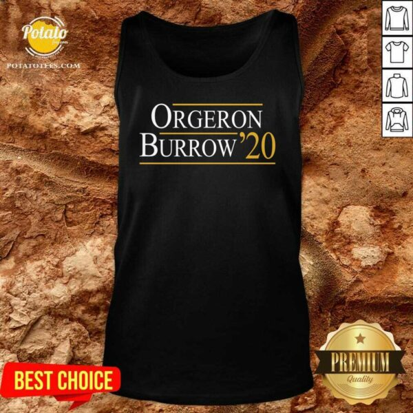 Orgeron Burrow 2020 Tank-Top- Design by Potatotees.com
