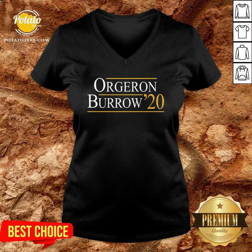 Orgeron Burrow 2020 V-neck- Design by Potatotees.com