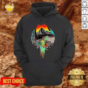 Nice Volcanoes Overflowing Dancing Bear Grateful Dead Hoodie - Design by Potatotees.com
