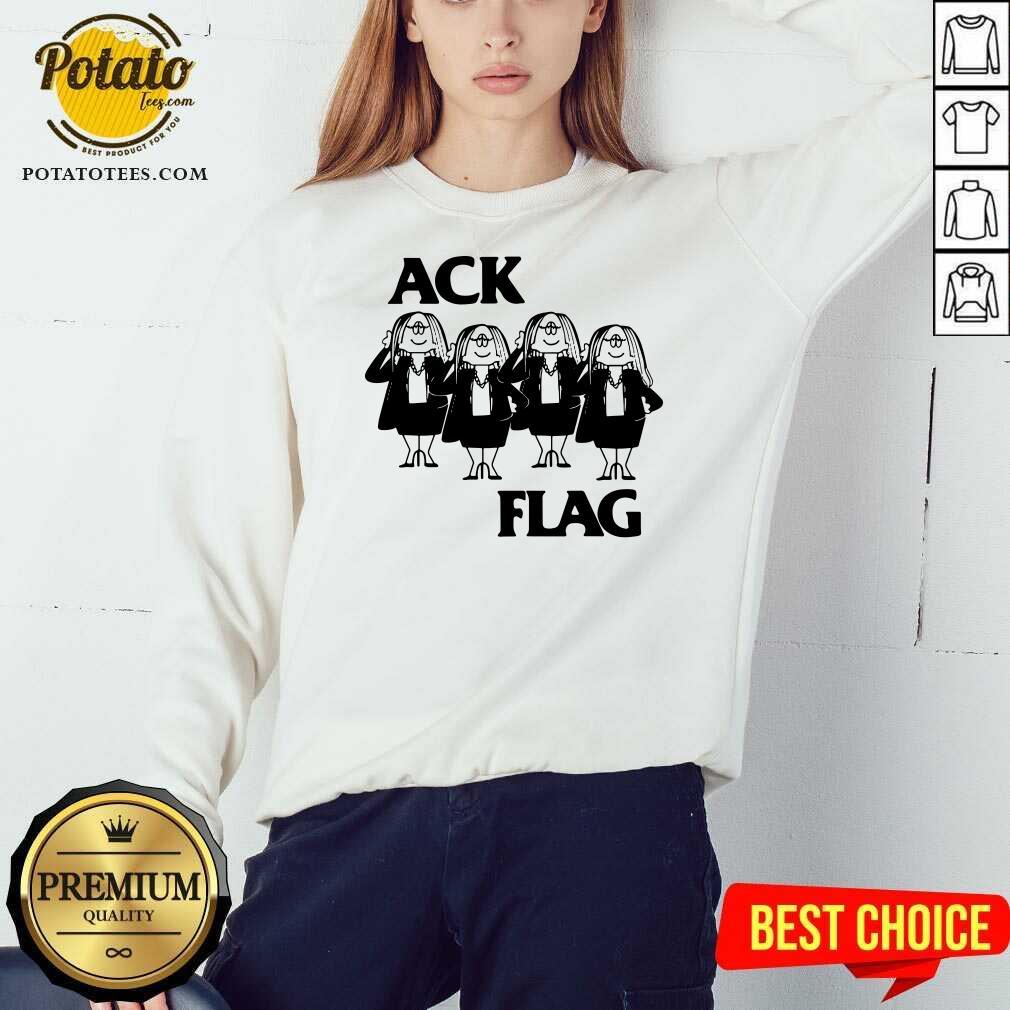 Cathy Ack Flag Sweatshirt - Design By Potatotees.com