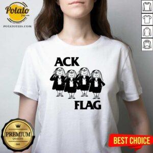 Cathy Ack Flag V-neck - Design By Potatotees.com