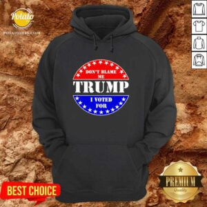 Official Don't Blame Me I Voted For Trump Hoodie - Design by potatotees.com