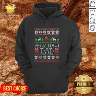 Feliz Navidad Ugly Merry Christmas Hoodie - Design by Potatotees.com
