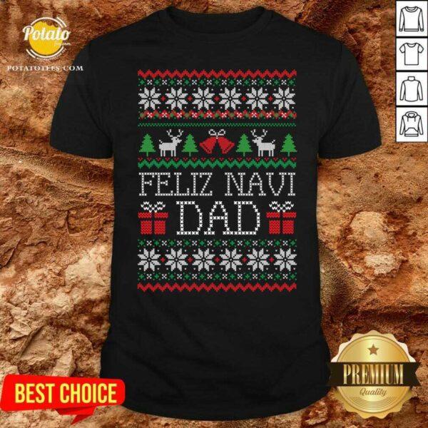 Feliz Navidad Ugly Merry Christmas Shirt - Design by Potatotees.com