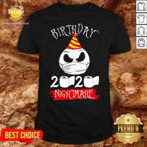 Jack Skellington Face Mask Birthday 2021 Toilet Paper Nightmare Shirt - Design By Potatotees.com