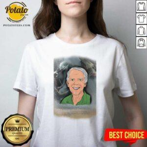 Jeremy Bulloch V-neck - Design by Potatotees.com