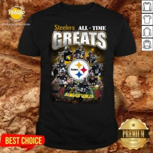 Pittsburgh Steelers All Time Greats Signatures Shirt- Design by Potatotees.com