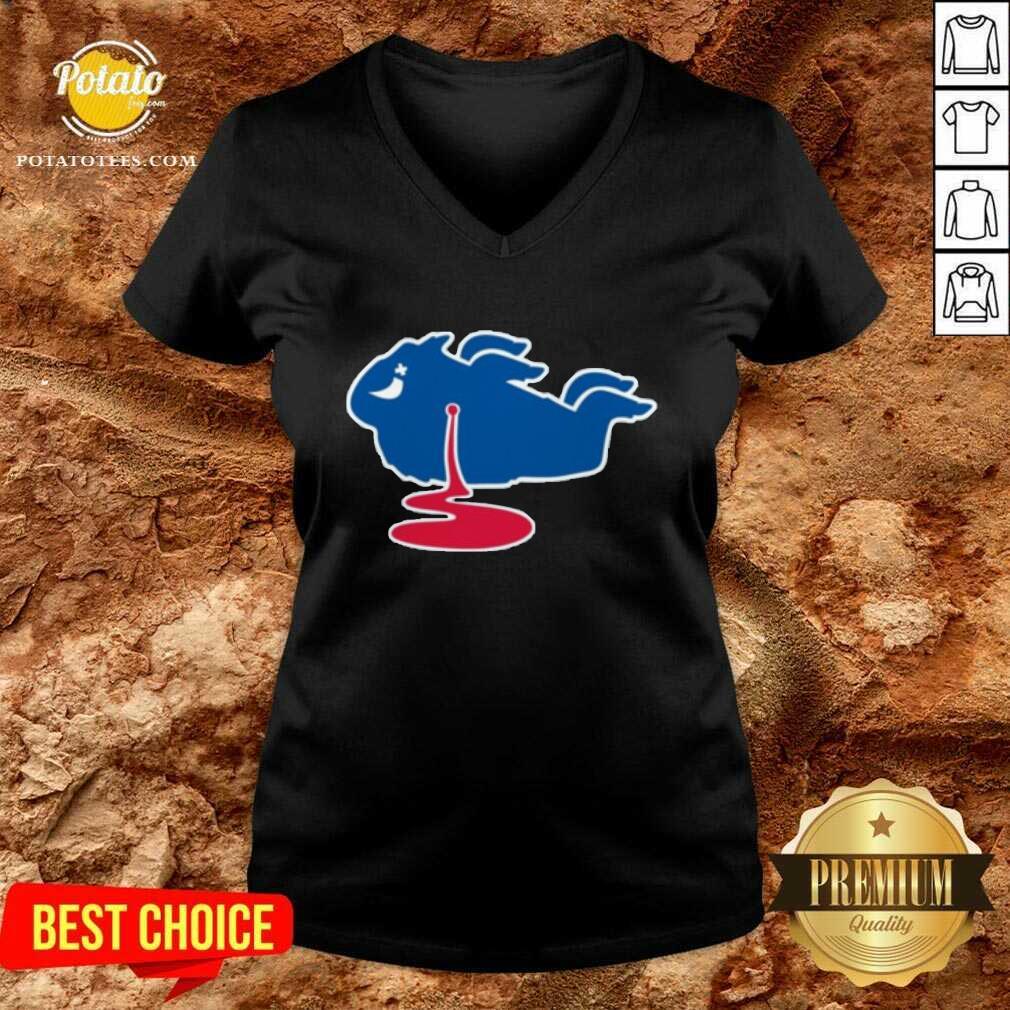Buffalo Bills Shot Dead Logo V-neck - Design by Potatotees.com