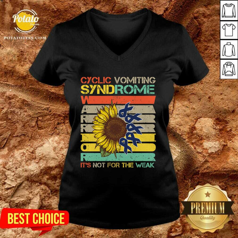 Cyclic Vomiting Syndrome Warrior It Is Not For The Weak Sunflower V-neck - Design by Potatotees.com