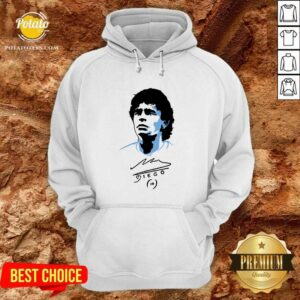 Original Diego Maradona Signature Hoodie- Design By Potatotees.com