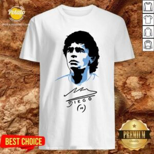 Original Diego Maradona Signature Shirt- Design By Potatotees.com