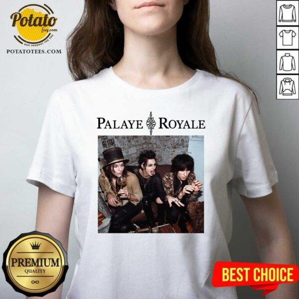 Palaye Royale Merch Album Art V-neck- Design by Potatotees.com