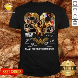 80 Years Of Wonder Woman Thank You For The Memories Shirt - Design By Potatotees.com