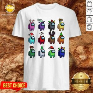 Perfect Among Us Customize Christmas Best Friend T-Shirt- Design By Potatotees.com