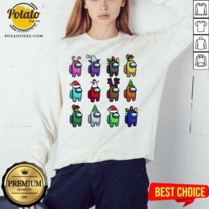 Perfect Among Us Customize Christmas Best Friend Sweatshirt - Design By Potatotees.com