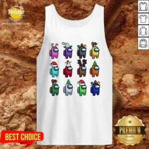 Perfect Among Us Customize Christmas Best Friend Tank Top - Design By Potatotees.com