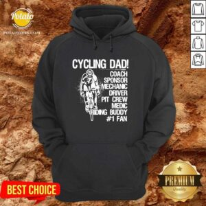 Cycling Dad Coach Sponsor Mechanic Driver Pit Crew Medic Riding Buddy Hoodie - Design by Potatotees.com