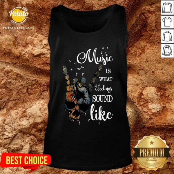 Music Is What Feelings Sound Like Peace Tank-Top - Design by Potatotees.com