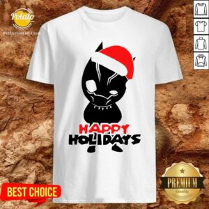 Premium Black Panther Men's Happy Holiday Shirt - Design By Potatotees.com