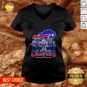 Buffalo Bills 2020 AFC East Division Champions V-neck - Design by Potatotees.com