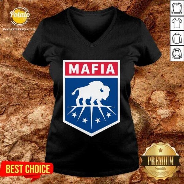 Buffalo Bills Mafia Logo V-neck - Design by Potatotees.com