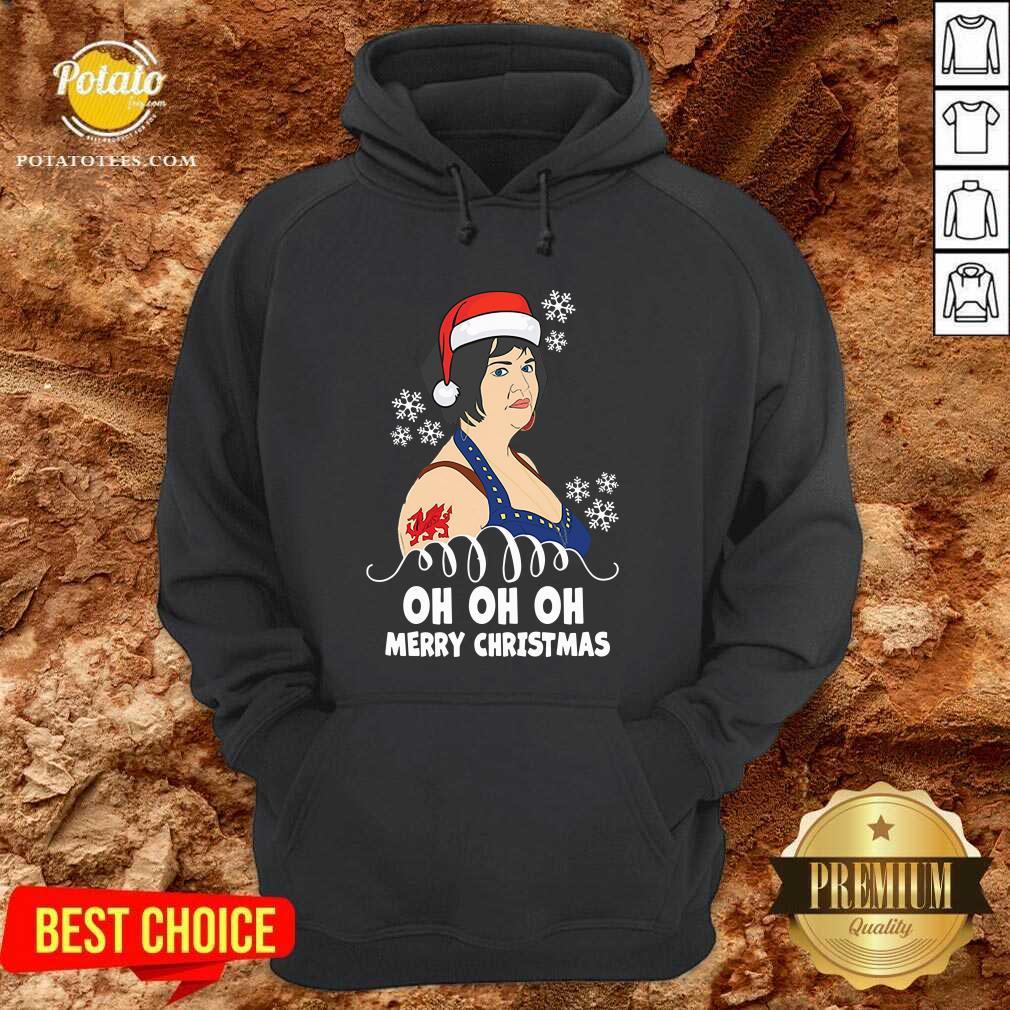 Premium Nessa Jenkins Oh Oh Oh Merry Christmas Hoodie - Design by potatotees.com