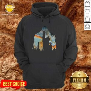 Bigfoot Rock And Roll Hoodie - Design by Potatotees.com