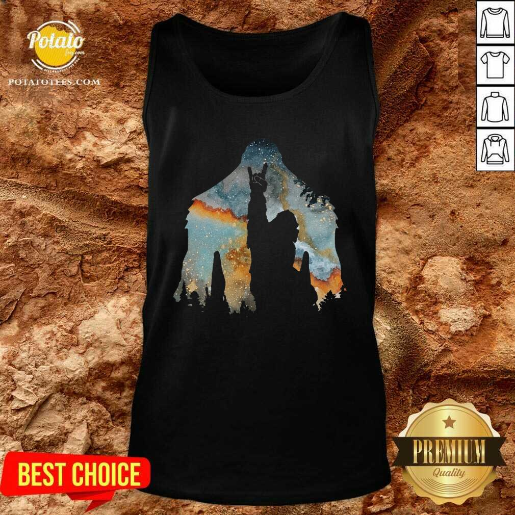 Bigfoot Rock And Roll Tank-Top - Design by Potatotees.com
