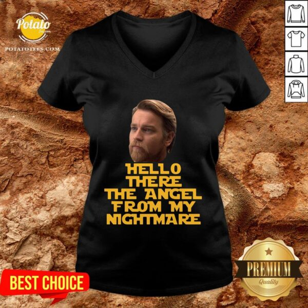 Pretty Ewan Mcgregor Hello There The Angel From My Nightmare V-neck - Design By Potatotees.com