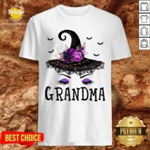 Grandma Witch Hat Halloween Shirt - Design by Potatotees.com
