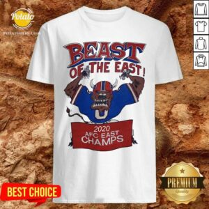 Beast Of The East 2020 Afc East Champs Shirt- Design by Potatotees.com