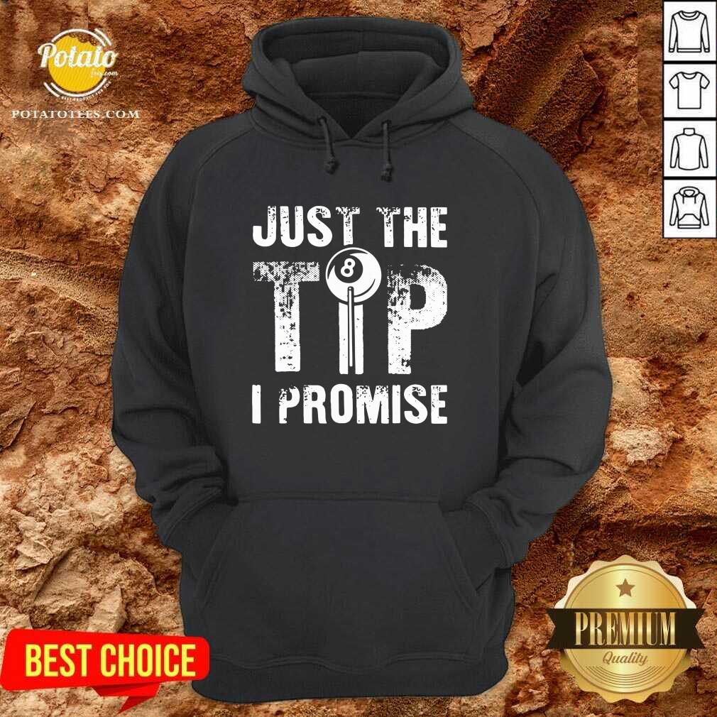 Just The Tip 8 Ball Pool Billiards I Promise Hoodie - Design by Potatotees.com