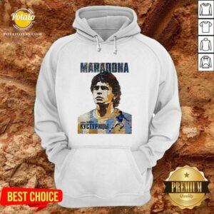Top RIP Maradona Diego We Will Miss You Diego Maradona Footballer Football Hoodie- Design By Potatotees.com