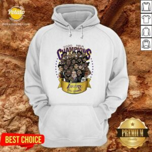 Awesome 2020 Nba Champions Los Angeles Lakers 17 Champs Cartoon Hoodie- Design By Earstees.com