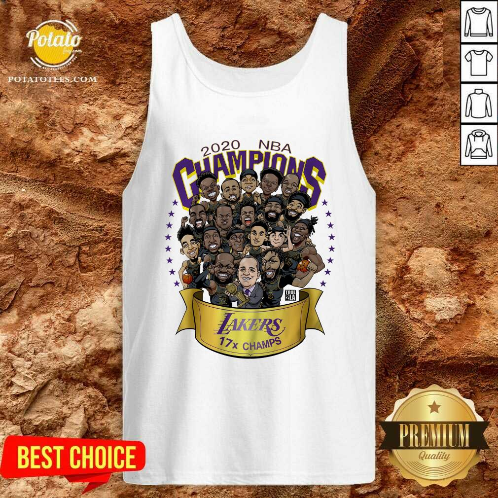 Awesome 2020 Nba Champions Los Angeles Lakers 17 Champs Cartoon Tank-Top - Design By Earstees.com